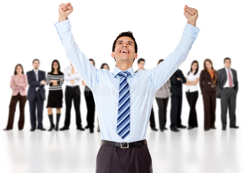 Download Businessman with arms up stock image. Image of person - 23513581