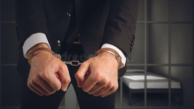 Businessman arrested stock image