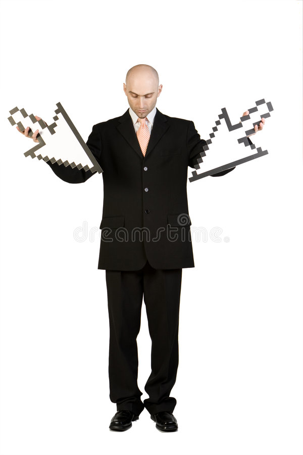 Download Businessman with arrows stock image. Image of businessman - 5186879