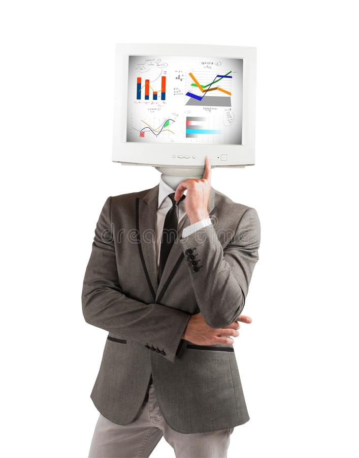 Businessman as computer stock photos