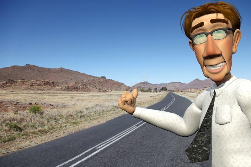 Download Businessman Asking For A Free Ride Stock Illustration - Illustration: 15627581