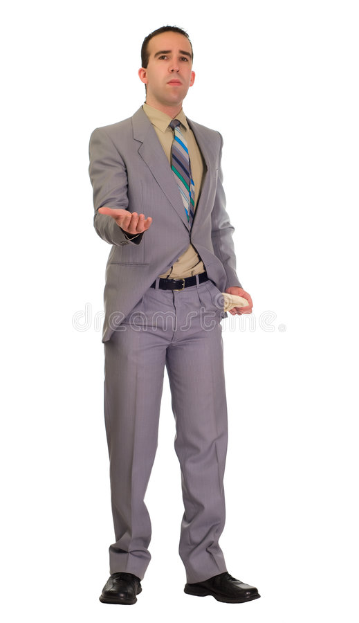 Businessman Asking For Money royalty free stock image