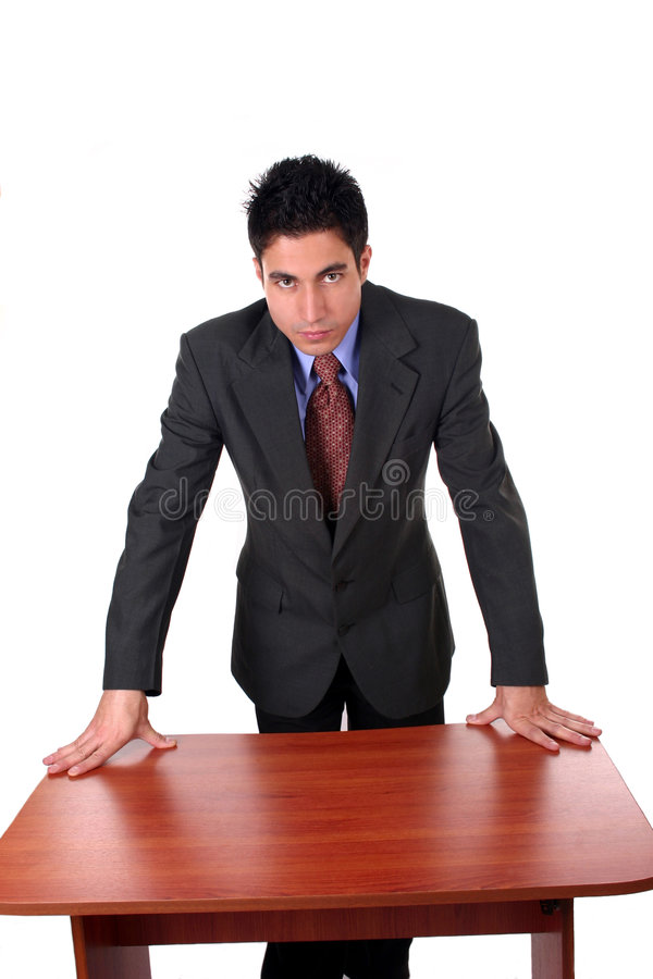 Businessman asking questions royalty free stock photos
