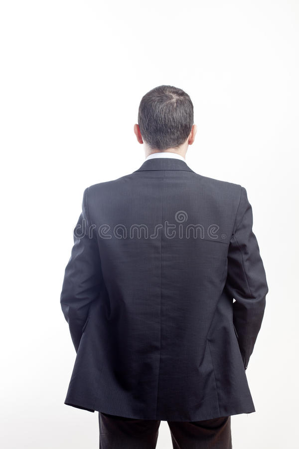 Businessman from the back stock photography