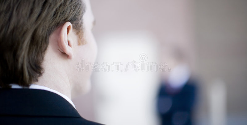 Businessman back royalty free stock photography