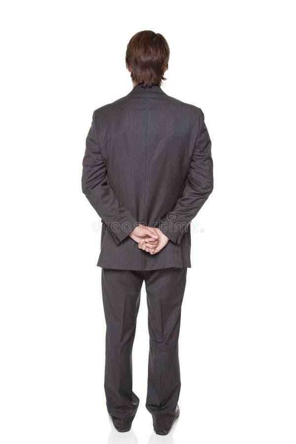 Businessman - back side royalty free stock image
