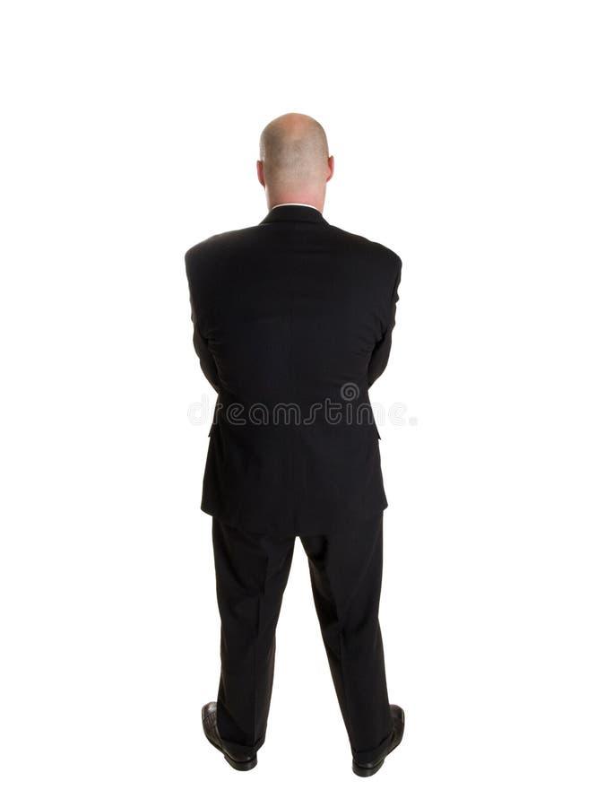 Businessman backside stock photography