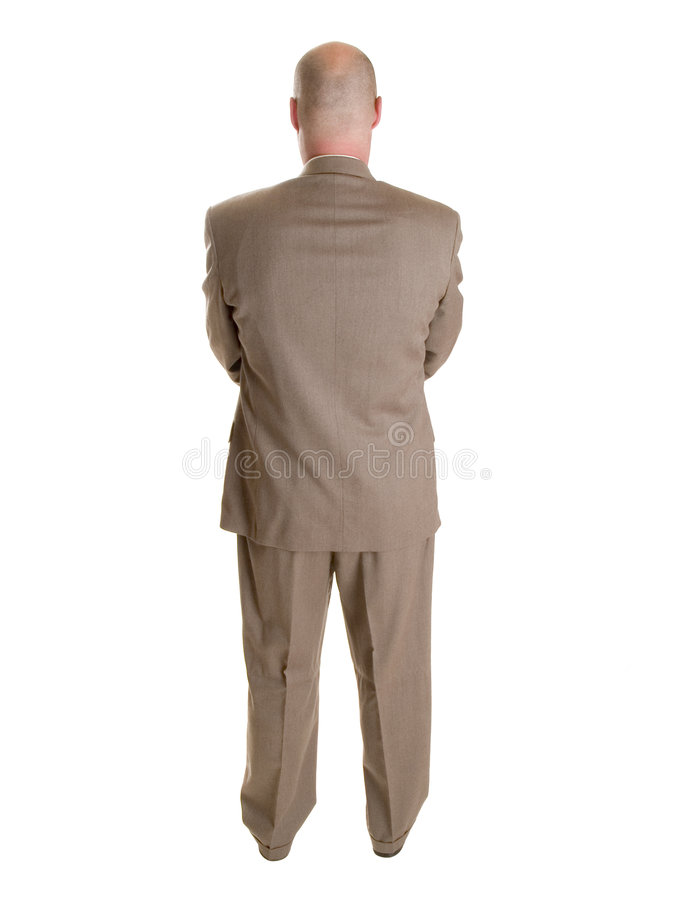 Businessman backside royalty free stock photography