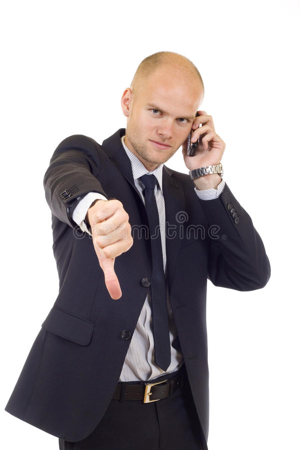 Businessman with bad news stock photos