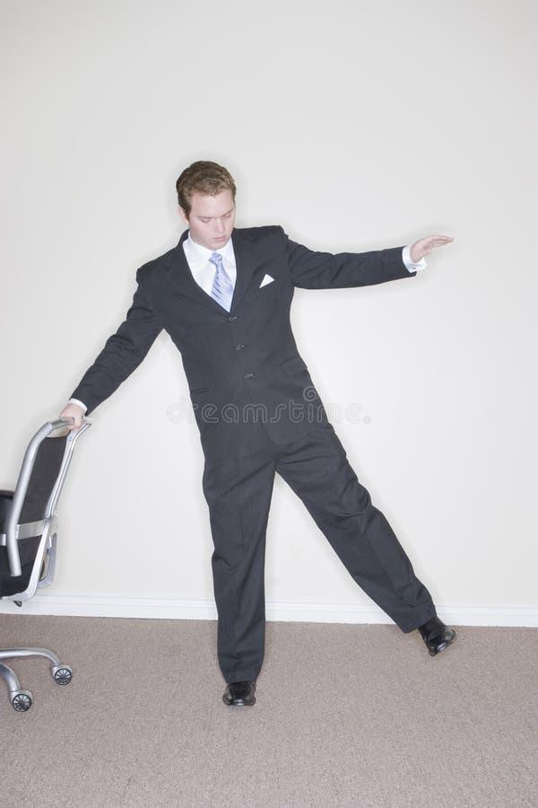 Businessman balance royalty free stock photography