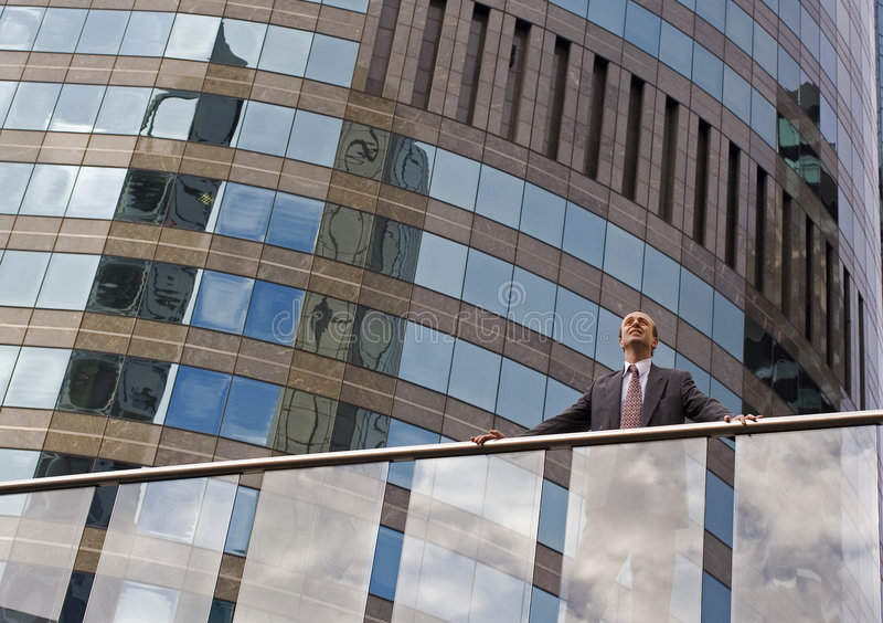 Businessman On The Balcony Stock Images