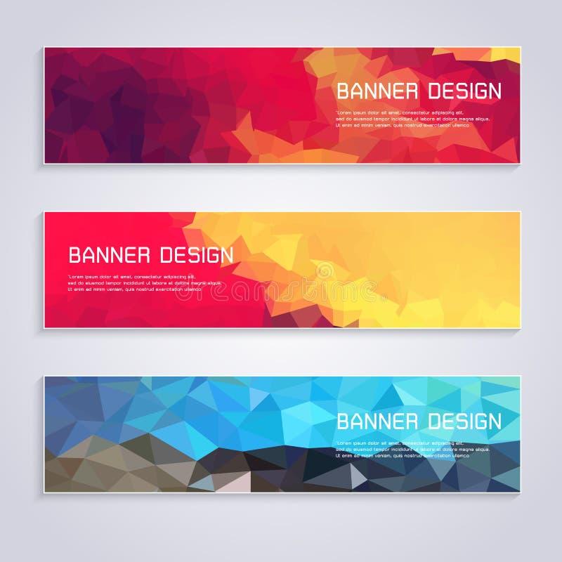 Businessman Banner card colorful design royalty free illustration