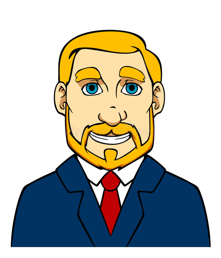 Businessman With Beard Royalty Free Stock Photography