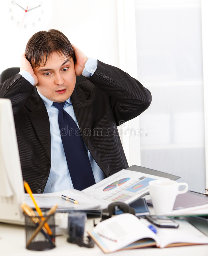 Download Businessman Being Overloaded With Loads Of Work Stock Images - Image: 18066374