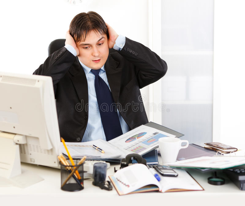 Download Businessman Being Overloaded With Loads Of Work Stock Photo - Image: 18633766
