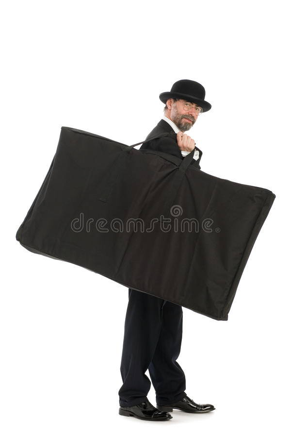 Download Businessman with a big bag stock image. Image of aged - 17622653