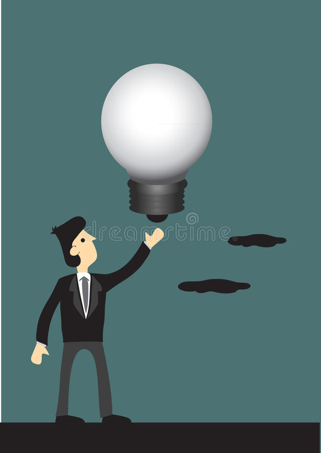 Businessman with Big Idea stock illustration