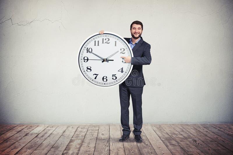 Download Businessman With Big Round Clock In His Hands Stock Illustration - Illustration of design, deadline: 70773043