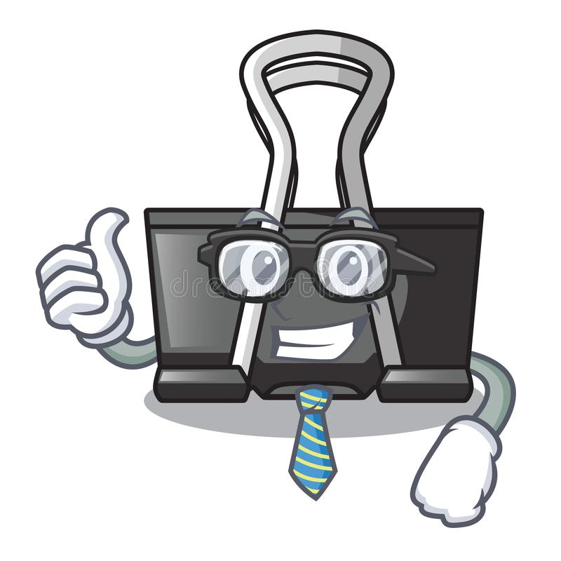 Businessman binder clip isolated on the cartoon. Vector illustration vector illustration