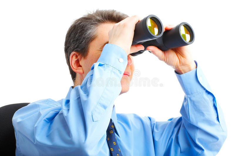 Download Businessman  With Binoculars Stock Photo - Image: 9395264