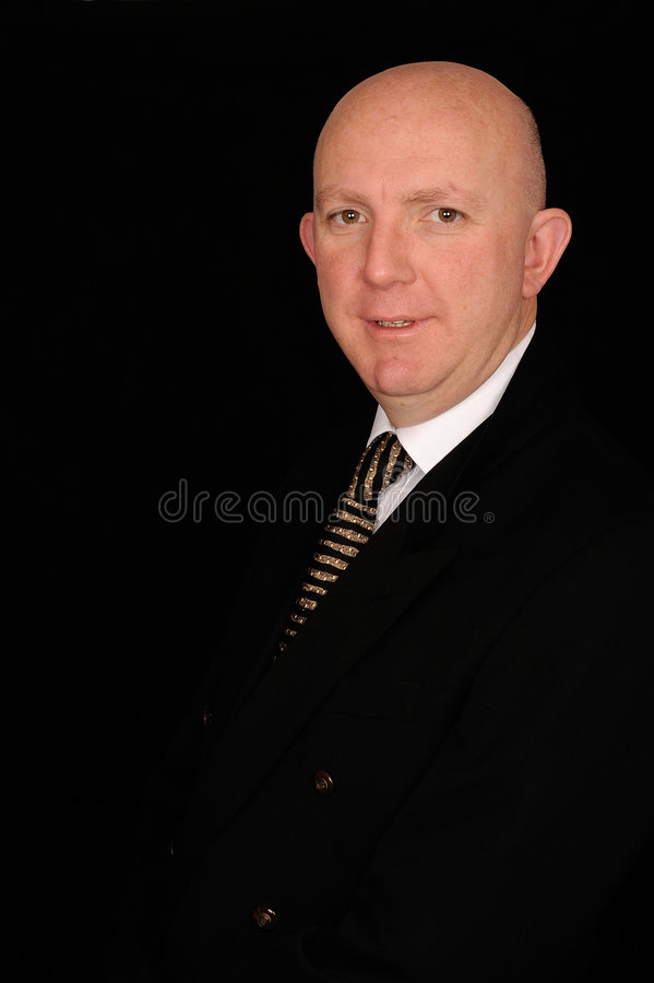 Download Businessman in black suit stock photo. Image of businessman - 7666604