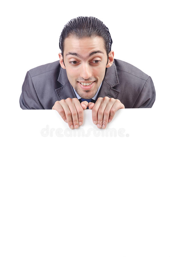 Download Businessman With Blank  Message Stock Image - Image: 26049499