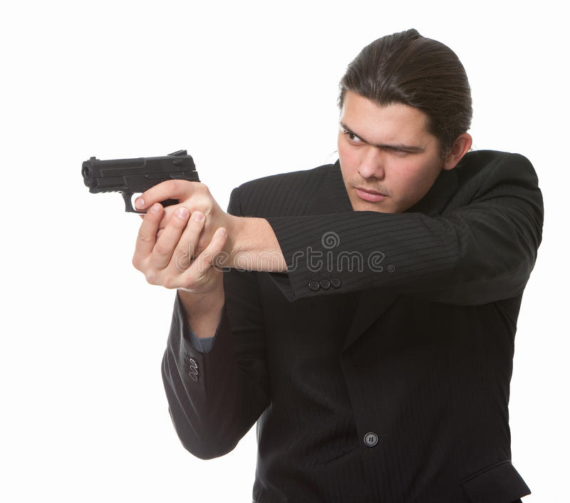 Download Businessman bodyguard stock image. Image of actor, handgun - 13394351