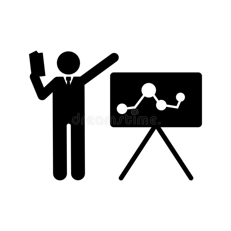 Businessman, book, training, explain icon. Element of businessman pictogram icon. Premium quality graphic design icon. Signs and. Symbols collection icon on stock illustration