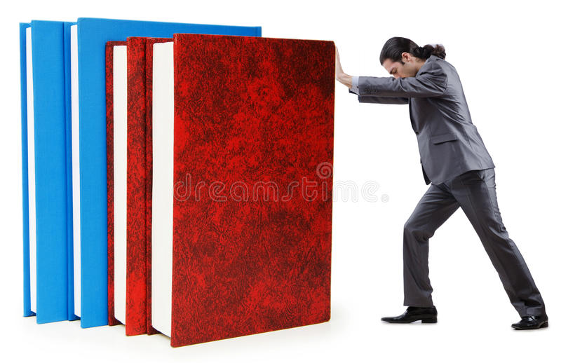Businessman With Books Royalty Free Stock Photography