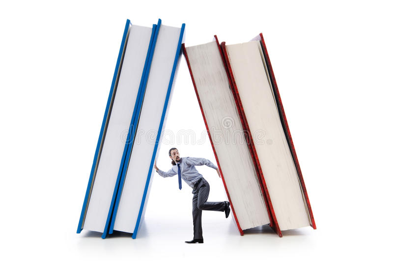 Download Businessman with books stock photo. Image of document - 25236006