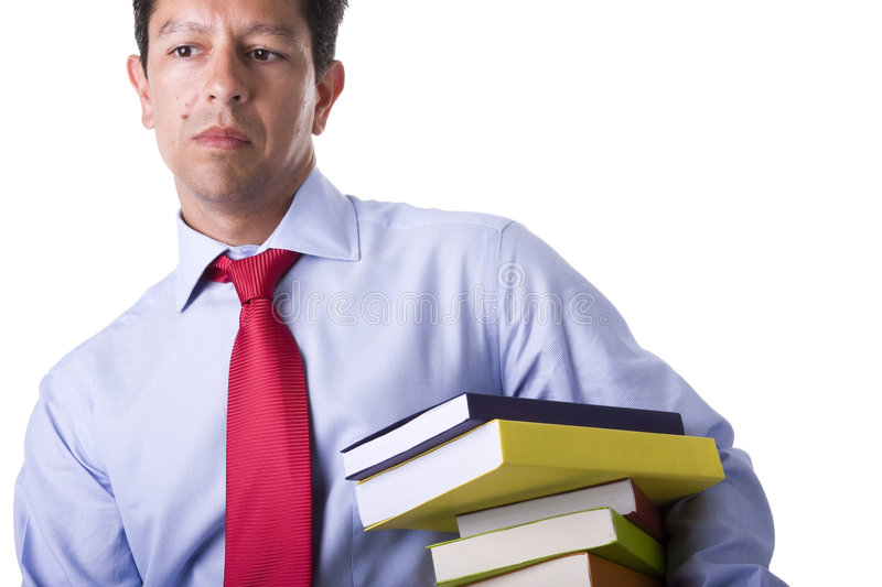 Download Businessman with books stock image. Image of portrait - 7615579