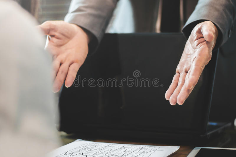 Businessman or boss complain royalty free stock photography
