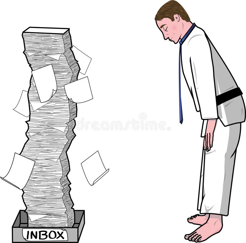 Download Businessman Bowing To His Inbox Stock Illustration - Image: 31398033