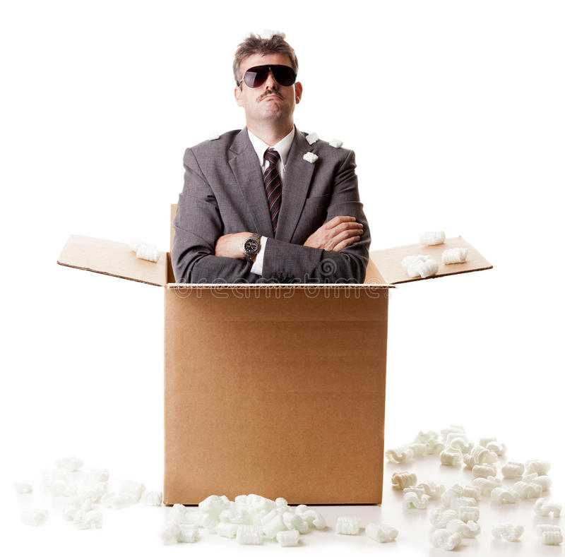 Download Businessman in a box stock photo. Image of background - 28853596