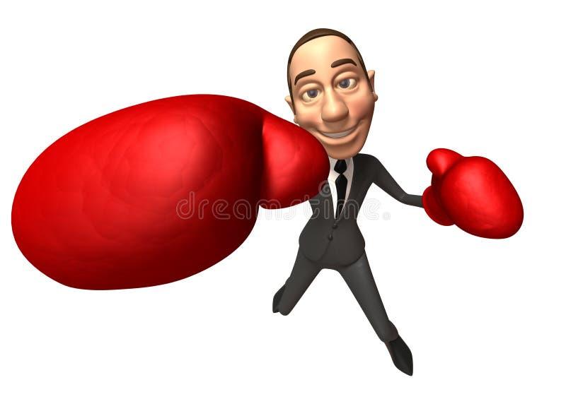 Businessman boxing vector illustration