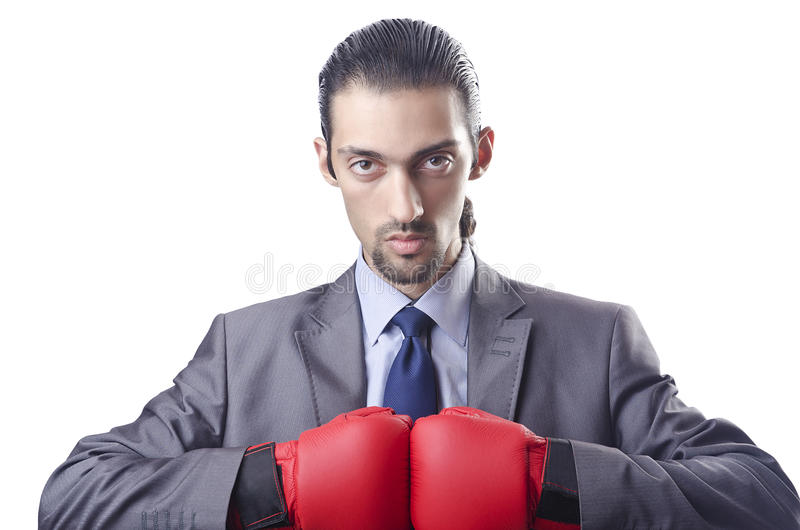 Businessman In Boxing Concept Royalty Free Stock Photos