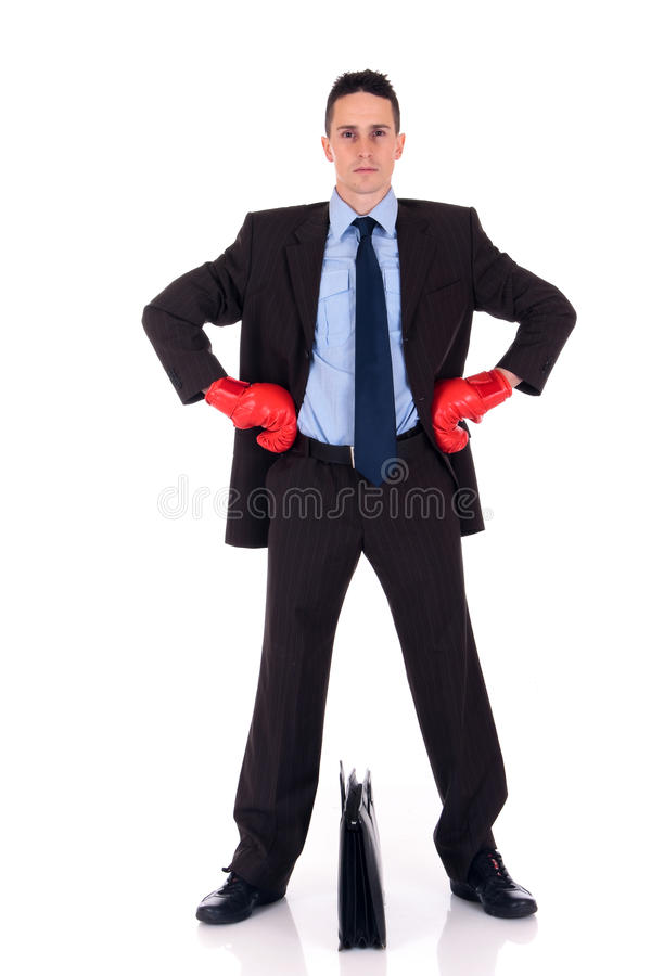 Download Businessman boxing gloves stock image. Image of competition - 12682613