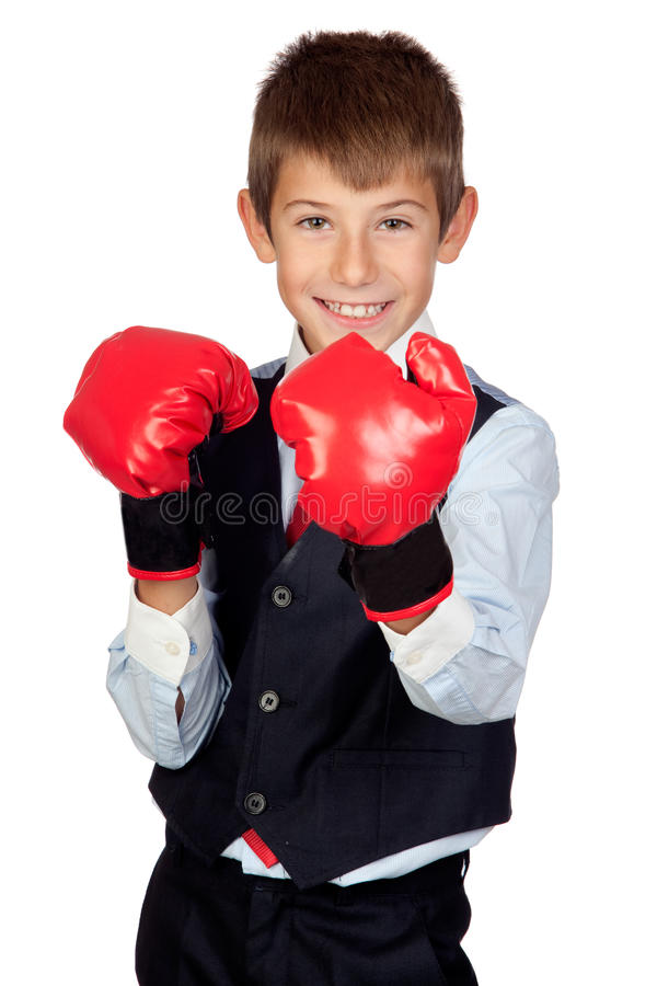 Download Businessman With Boxing Gloves Stock Photo - Image: 21918936