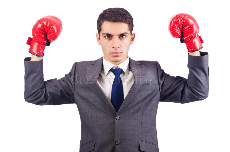 Download Businessman With Boxing Gloves Stock Image - Image: 28785469