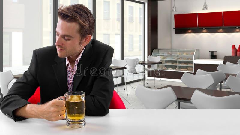 Businessman On Break Stock Photos
