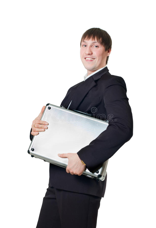 Download Businessman with briefcase stock photo. Image of confident - 18843526