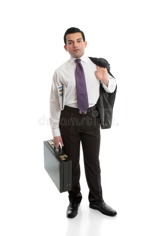 Download Businessman with briefcase stock image. Image of fashion - 24787531