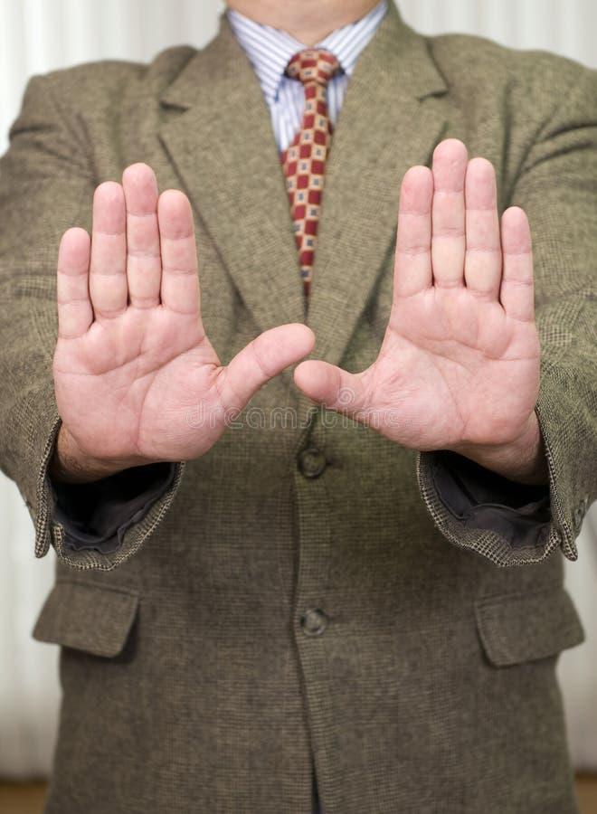 Businessman in business attire stock photo