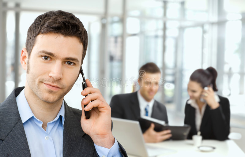 Businessman on business meeting royalty free stock images