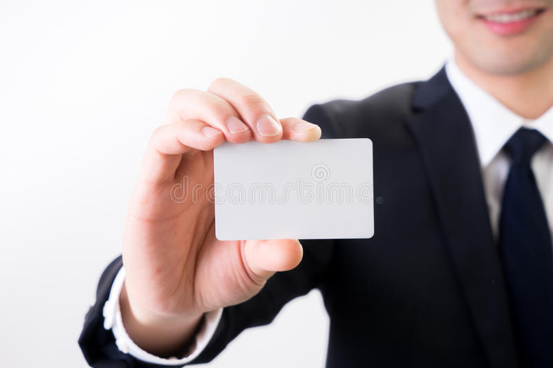 Businessman with business name card , contact us concept. SONY A7 stock images