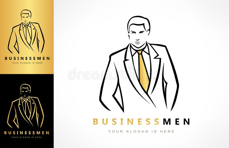 Businessman in business suit logo vector vector illustration