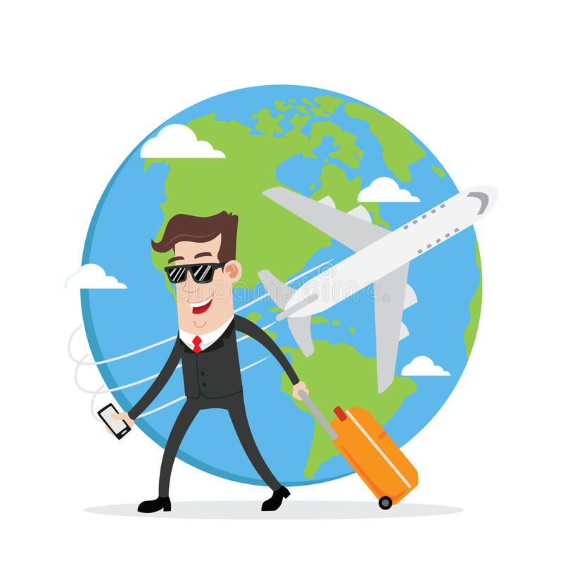 businessman on business trip and travel around the world stock rh dreamstime com travel clip art images traveling clip art free