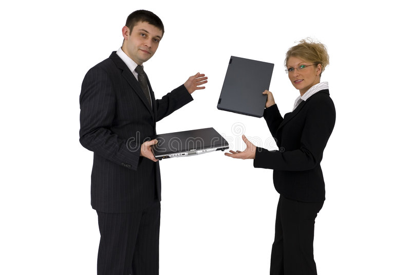 Businessman and businesswoman. stock photography