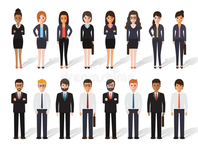 Businessman and businesswoman people royalty free illustration