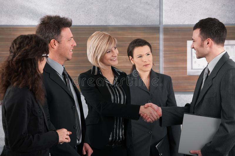 Download Businessman And Businesswoman Shaking Hands Stock Image - Image: 24850547